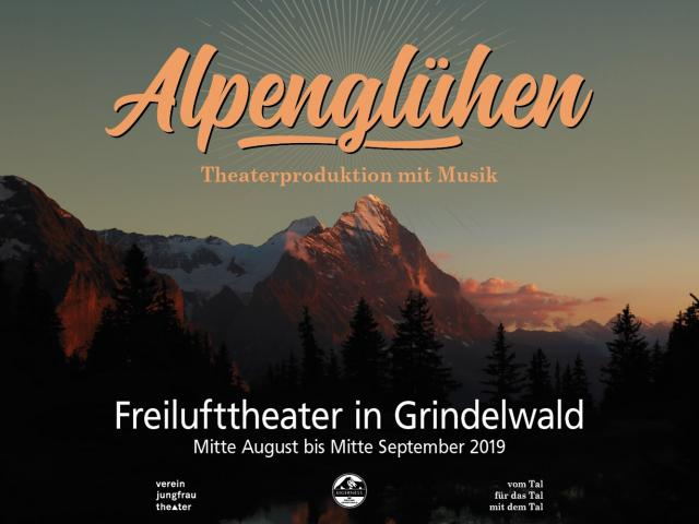 Open air theatre «Alpenglühen» in Grindelwald