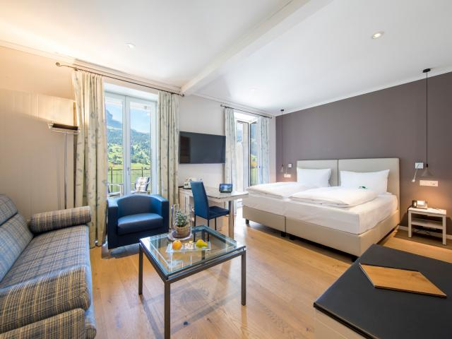 Classic Double or Twin room Eiger with sofa bed Belvedere Swiss Quality Hotel Grindelwald