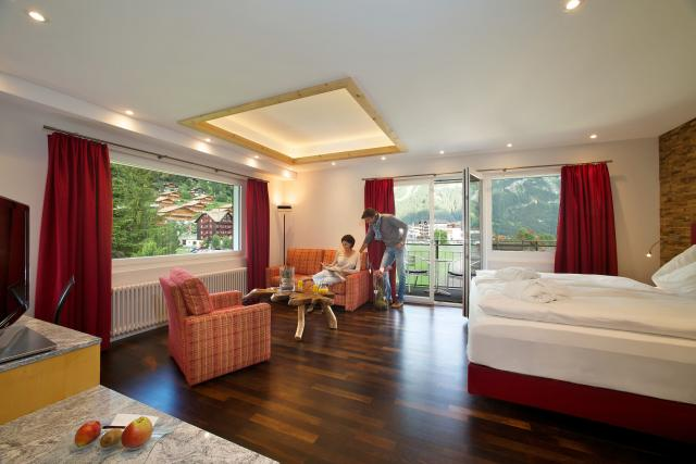 Deluxe Double or Twin room Wetterhorn with sofa bed Belvedere Swiss Quality Hotel Grindelwald