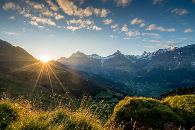 Grindelwald Sommer Sonnenaufgang Sunrise