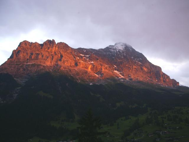 Der Eiger am Abend the Eiger at night